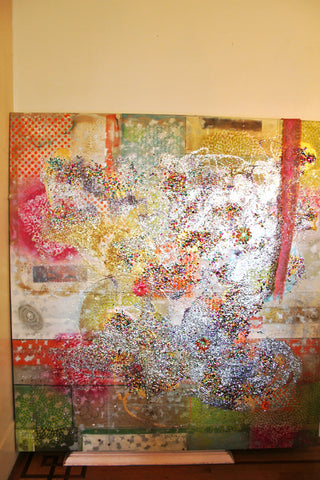 2009 inertia, art in motion in LA, Paris, NY & Tokyo, 66 x 69, mixed media