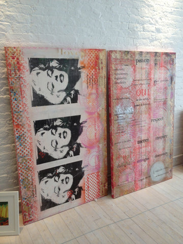 2012 Beauty's Reflection, See Beauty in what you do Marilyn, Diptych 36 x 60 each, No. 14-15