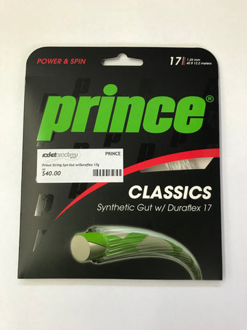 Prince Synthetic Gut w/ Duraflex 17 Tennis String