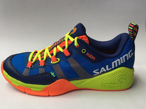 Salming Kobra Men's Squash Shoe - Blue/Yellow