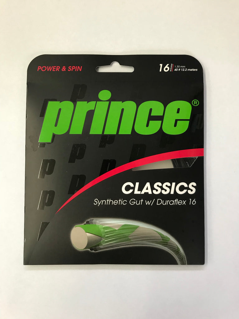 Prince Synthetic Gut w/ Duraflex 16 Tennis String