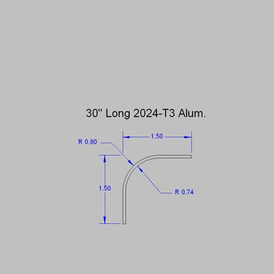 Aluminum Angle - 04C1110 - Windshield Post Angle