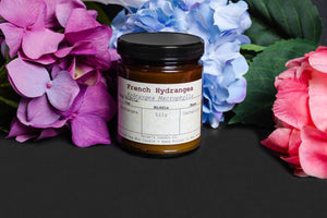 French Hydrangea Taxonomy Candle