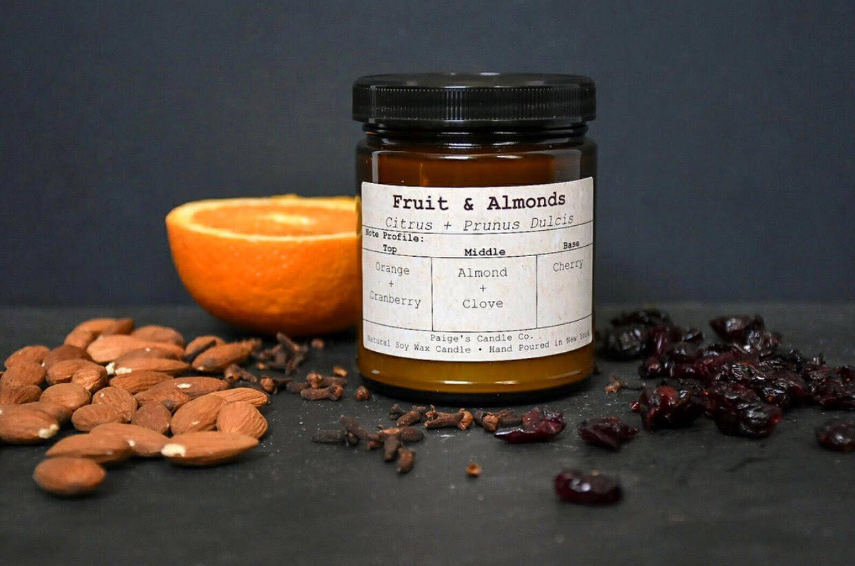 Fruit & Almonds Taxonomy Candle