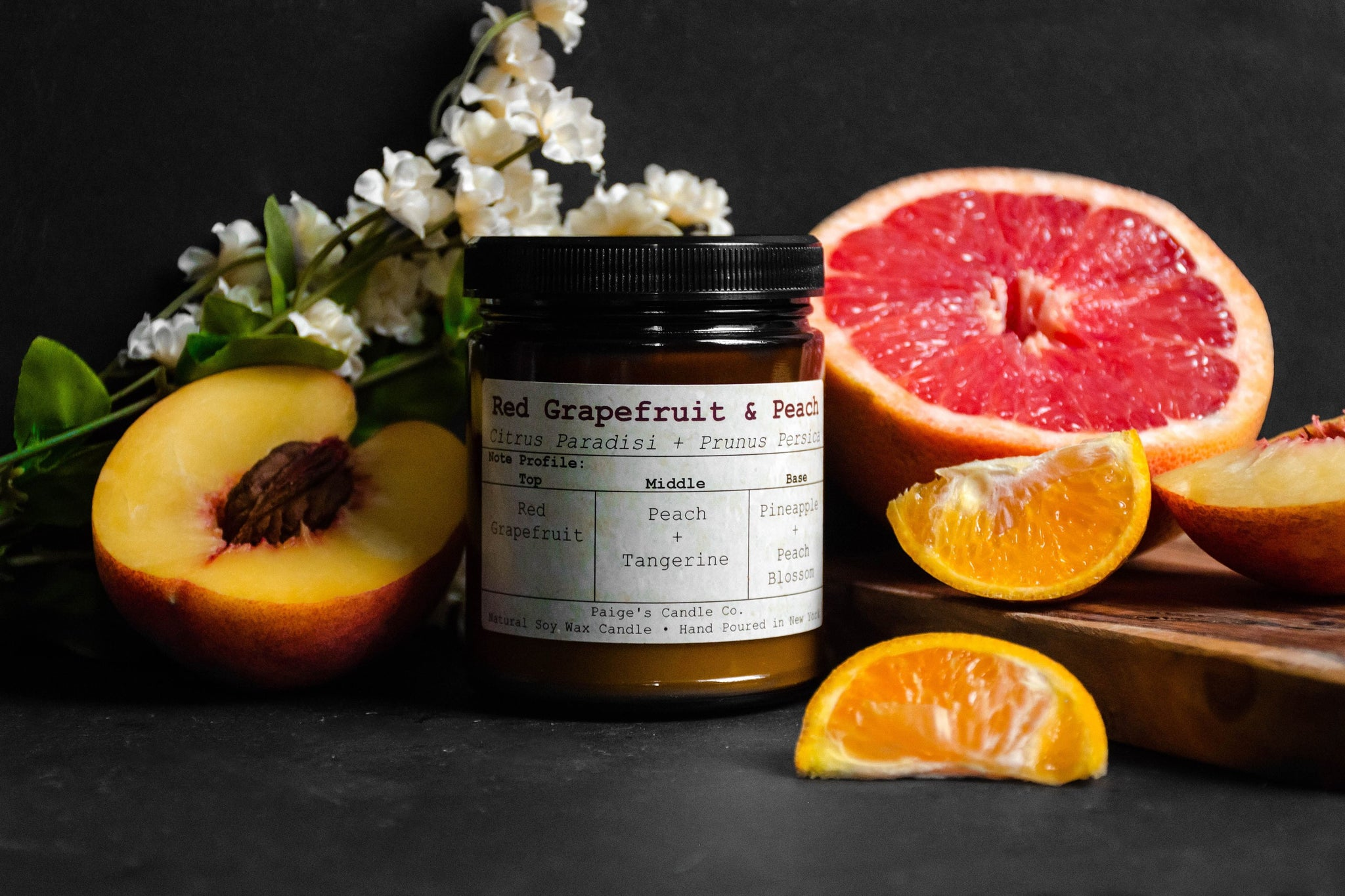 Red Grapefruit & Peach Taxonomy Candle
