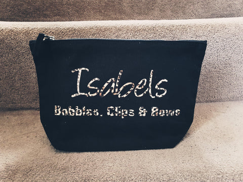 Bobbles Clips and Bows Bag Personalised