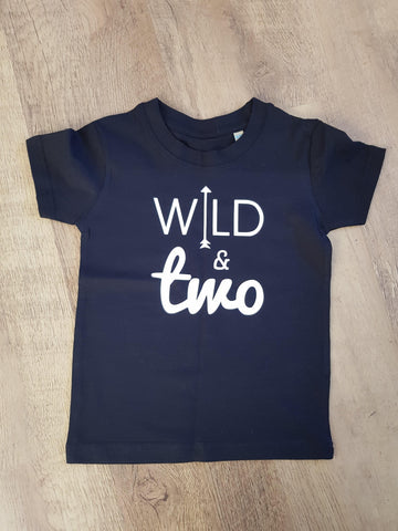 Wild And Two Birthday Tshirt 2nd Birthday Kids T-shirt - Original Life Clothing
