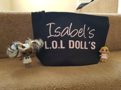 LOL Surprise Dolls Storage Zip Bag Personalised Toy Storage