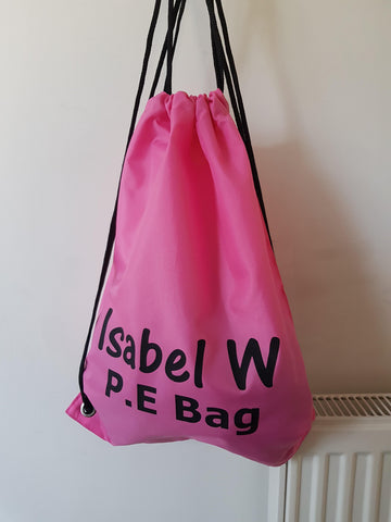 Personalised PE Bag Gymsac