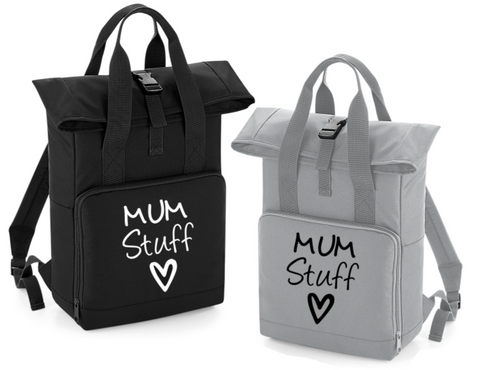 Mum Stuff Bag Roll Top Backpack