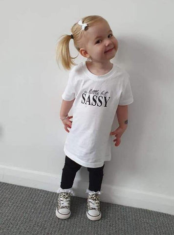 A Little Bit Sassy Kids T-Shirt - Original Life Clothing