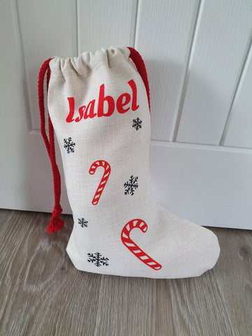 Luxury Personalised Christmas Stocking