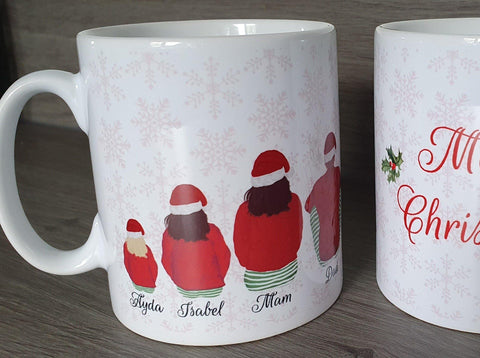 Custom Santa Family Personalised Christmas Mug