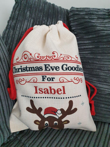 Personalised Christmas Eve Gift Sack