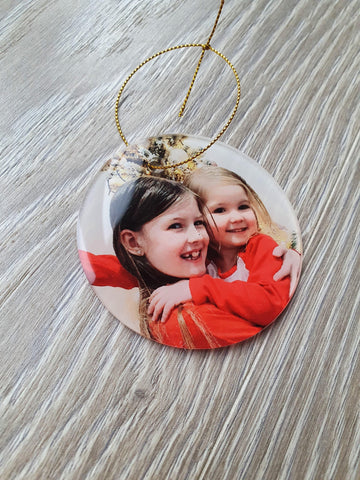 Personalised Christmas Bauble Photo Upload Acrylic - Original Life Clothing
