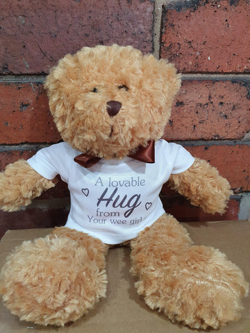 Bear Hug Gift Personalised Teddy - Original Life Clothing