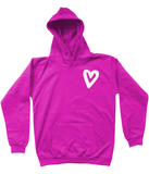 Small Urban Heart White Kids Hoodie
