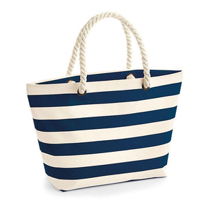 Personalised Beach Bag Striped With Initials