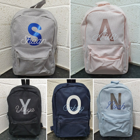 kids personalised backpacks for young children and toddlers