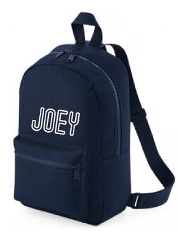 Personalised Backpack Outline Name For Kids Toddlers