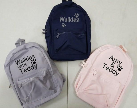 Personalised Dog Walking Backpacks