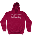 JUST ANOTHER MANIC MUMDAY White Text Ladies Hoodie - Original Life Clothing