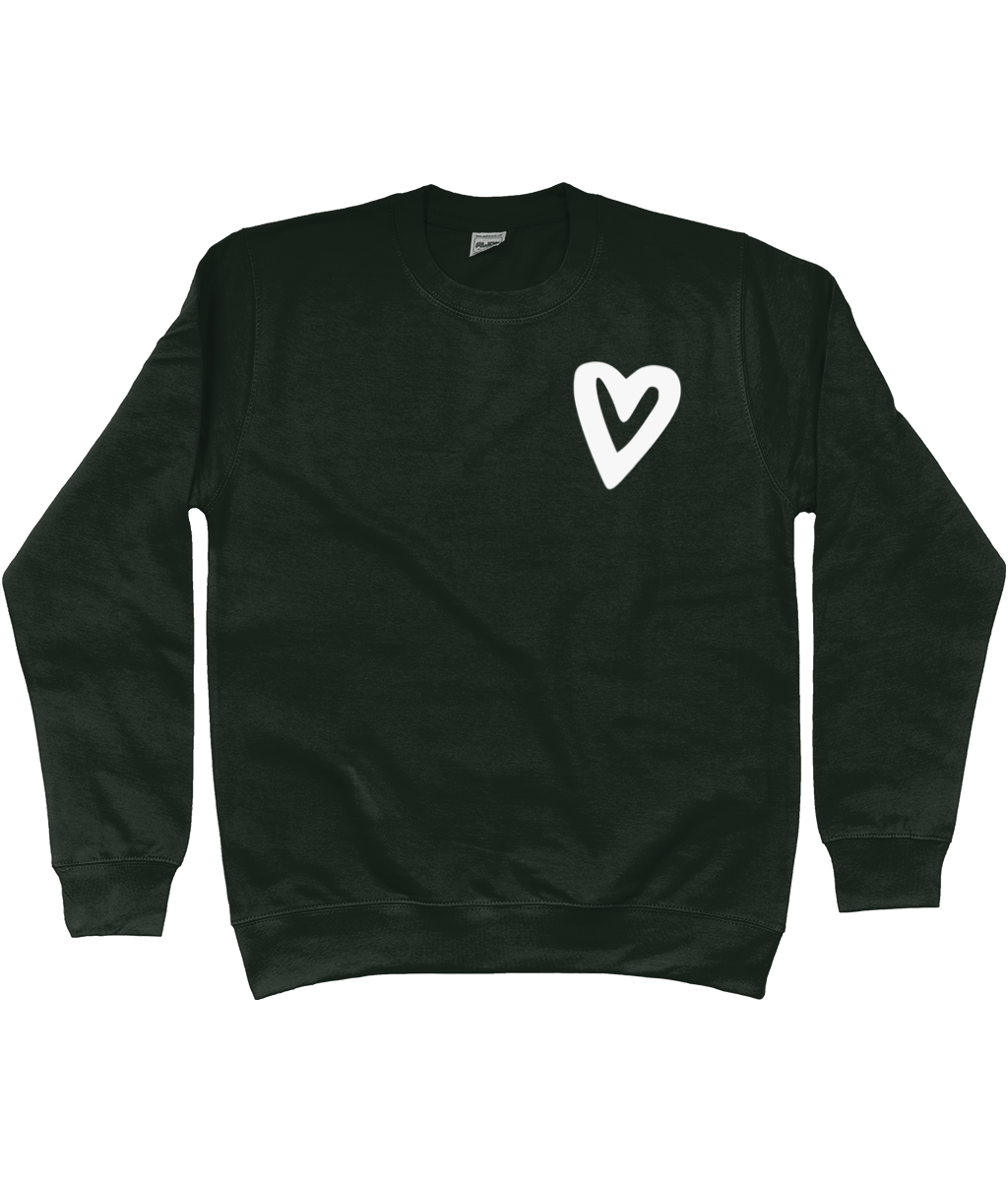Small Urban Heart White Kids Jumper Sweatshirt