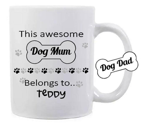 Personalised Dog Mum Dog Dad Mug