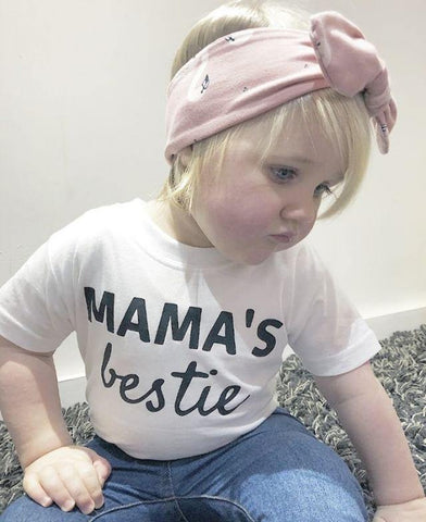 MAMAS Bestie Kids T-Shirt Clothing Original Life Clothing