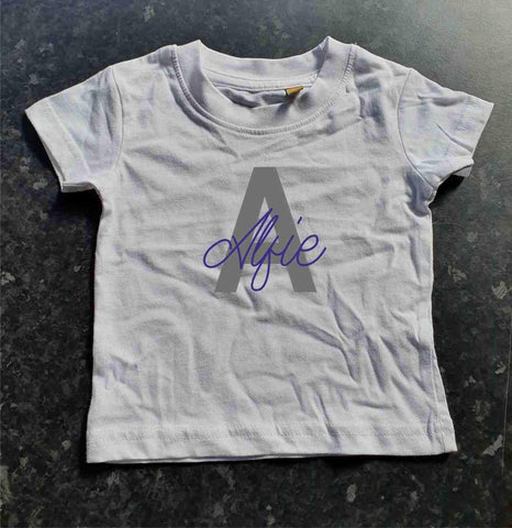 Personalised Name And Initial Tee Kids T-shirt