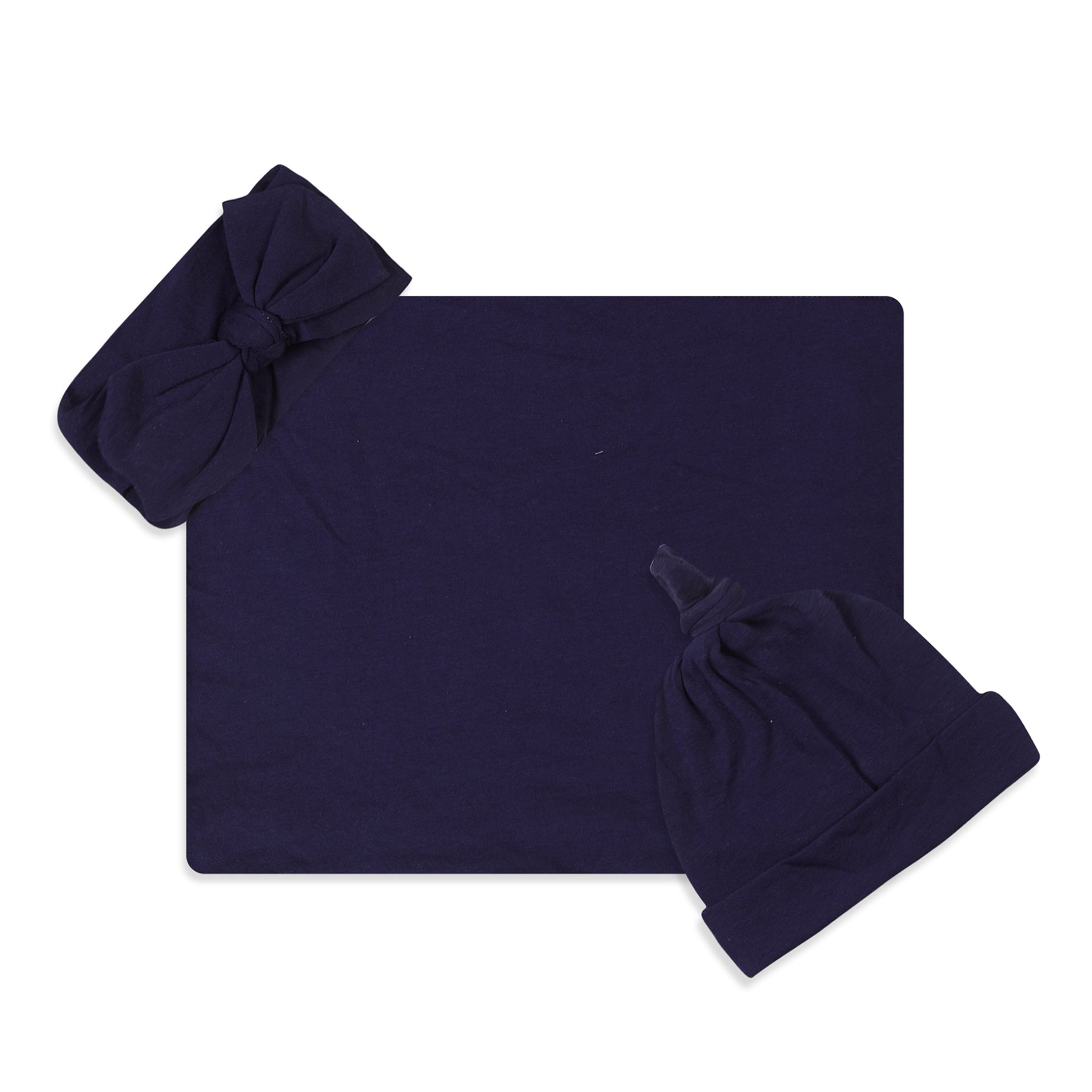 Navy Hos Printed Swaddle Set For Newborn Baby Boy And Girl With Organic Maternity Robe | Comfy Mommy