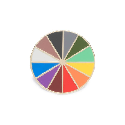Color Factory Color Wheel Pin - colorfactoryshop