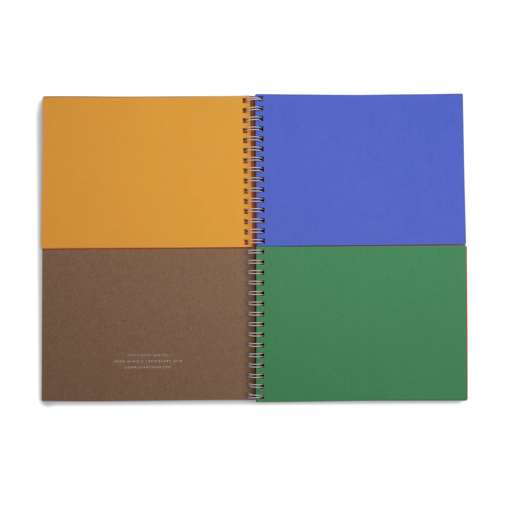 50/50 Notebook - colorfactoryshop