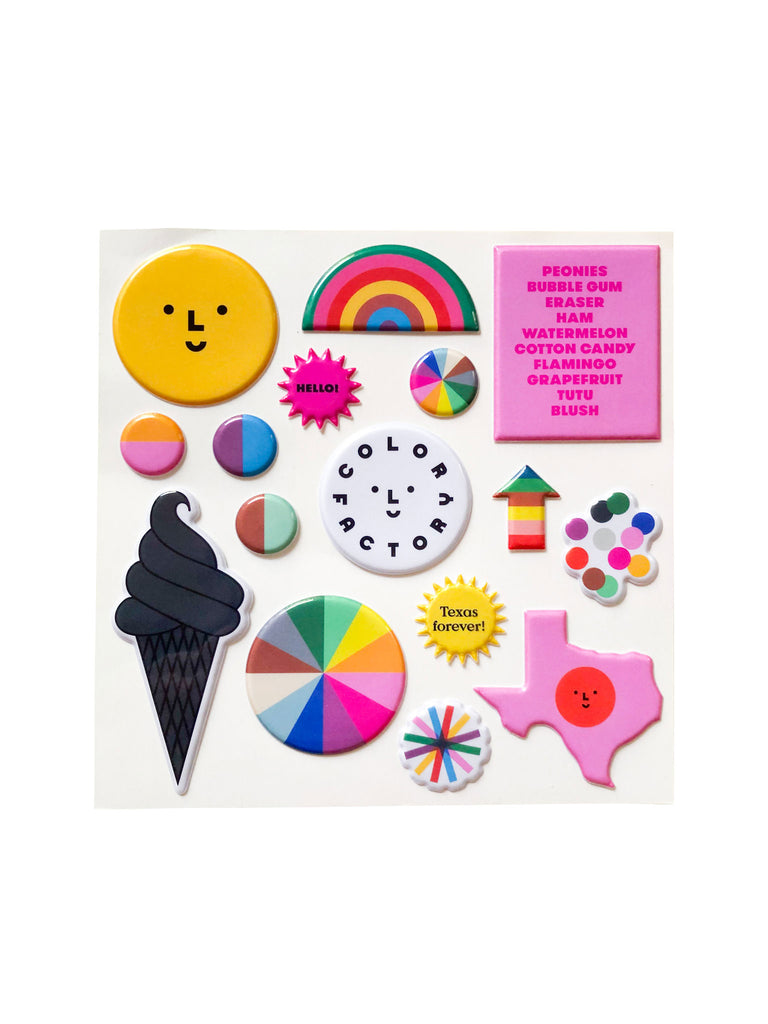 Color Factory Houston Puffy Stickers