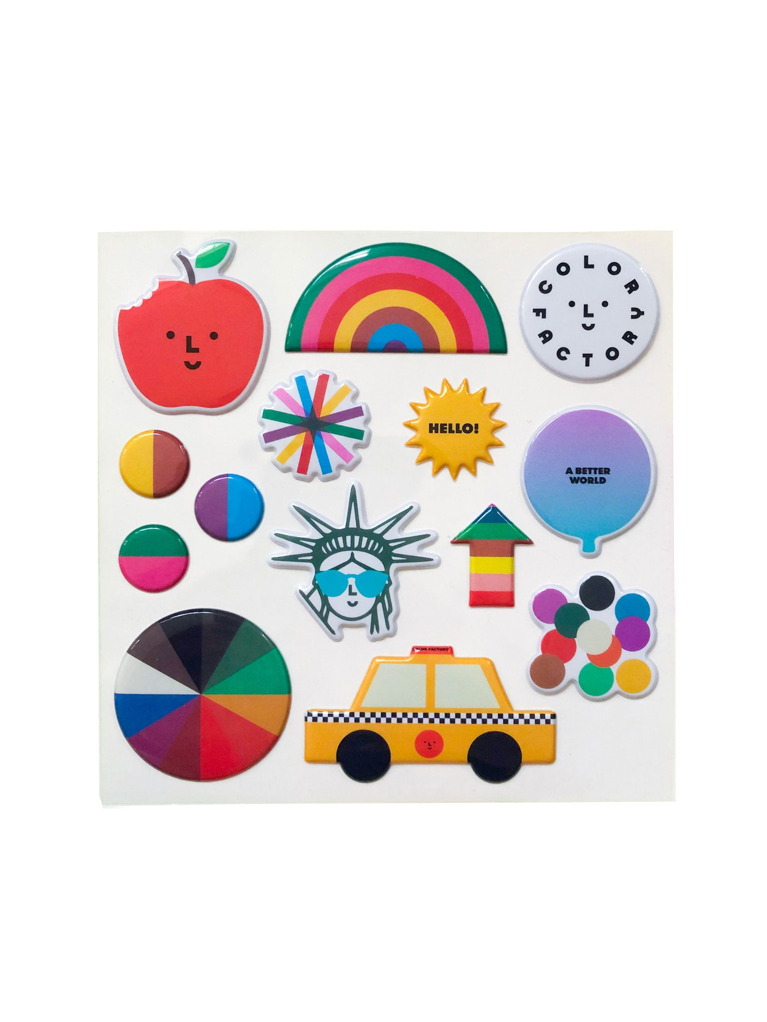 Color Factory NYC Puffy Stickers