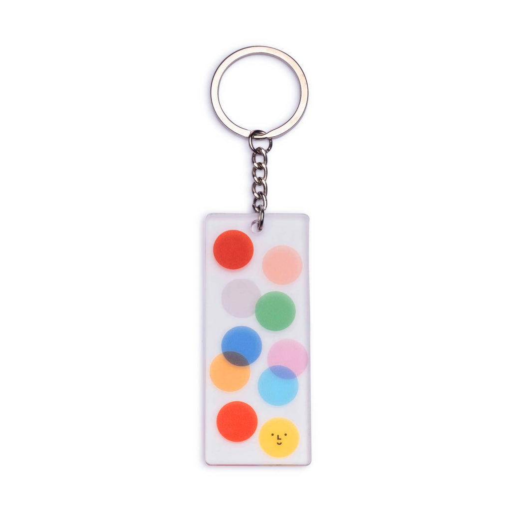 Color Factory Clear Acrylic Dots Keychain - colorfactoryshop