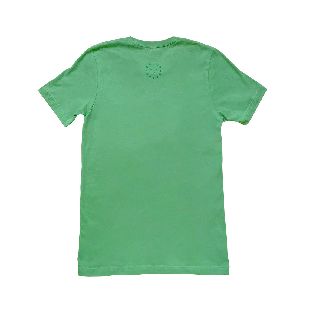 Color Factory Green Smiley Face Tee