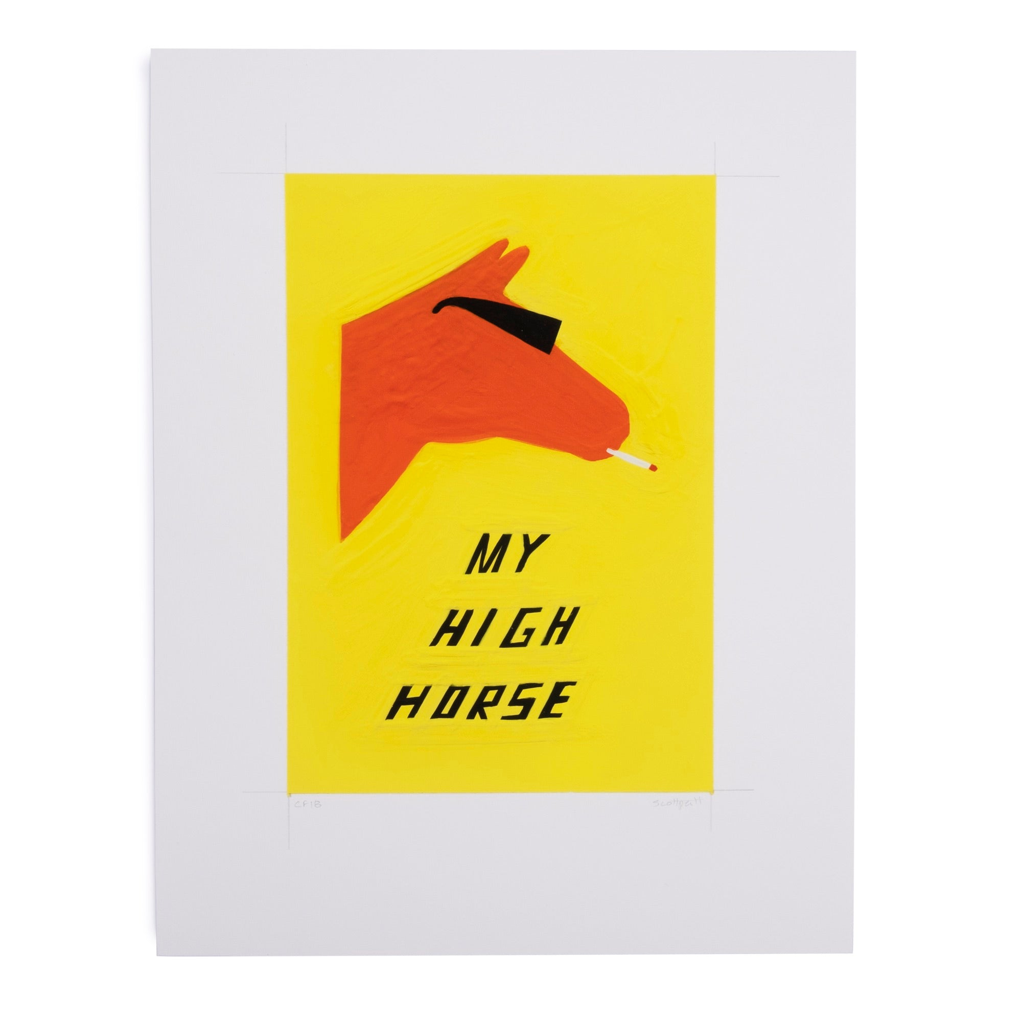 Scott Patt Print - High Horse - colorfactoryshop