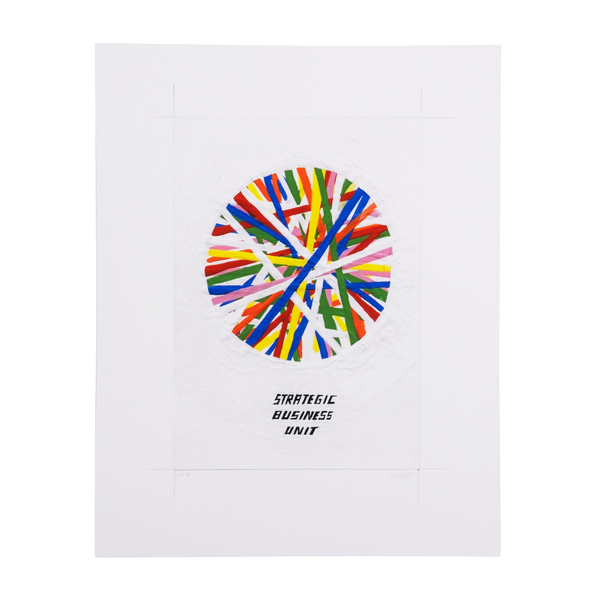 Scott Patt Print - Strategic Business Unit - colorfactoryshop