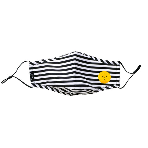 Adult Face Mask (Black and White Stripes)