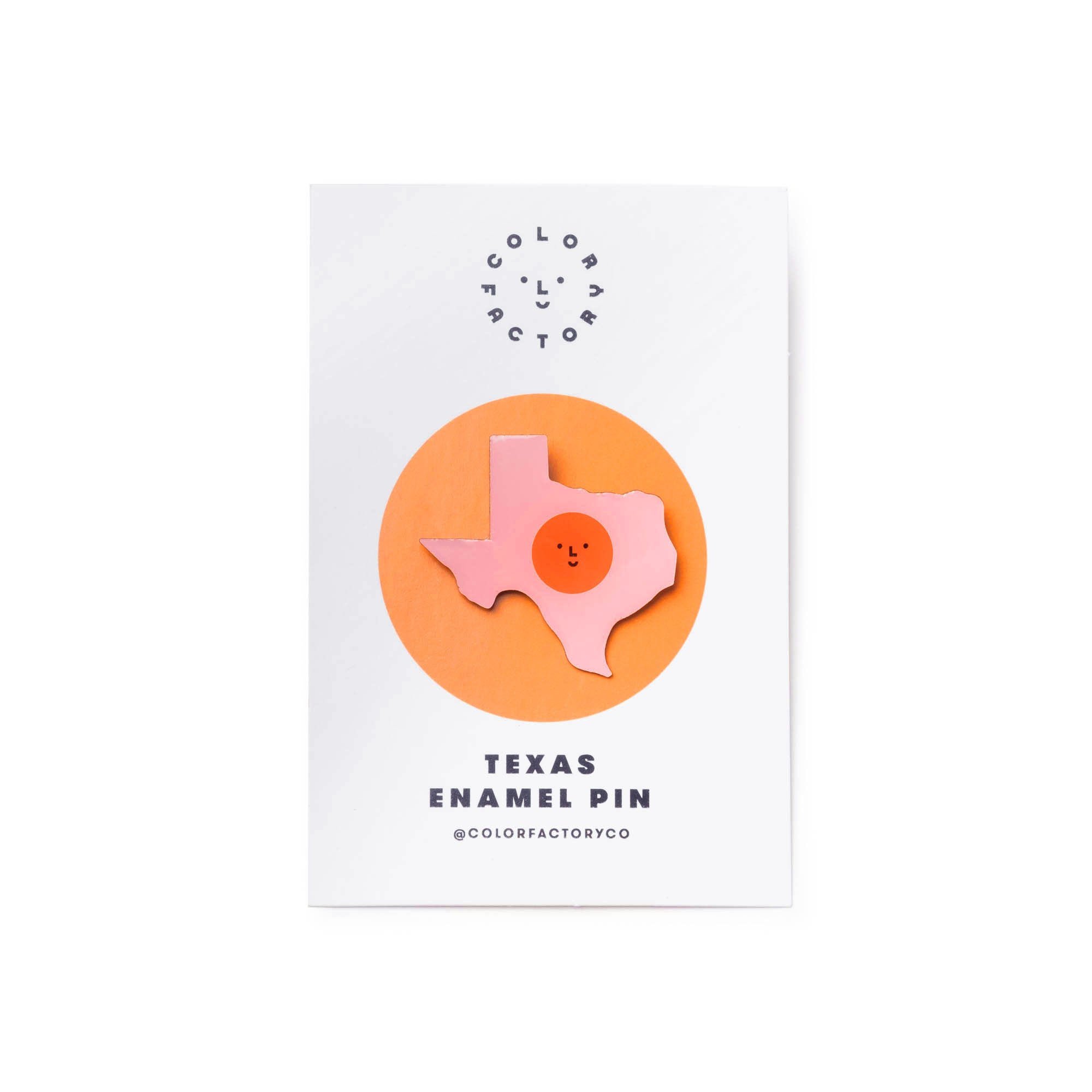 Color Factory Houston Texas Enamel Pin - colorfactoryshop