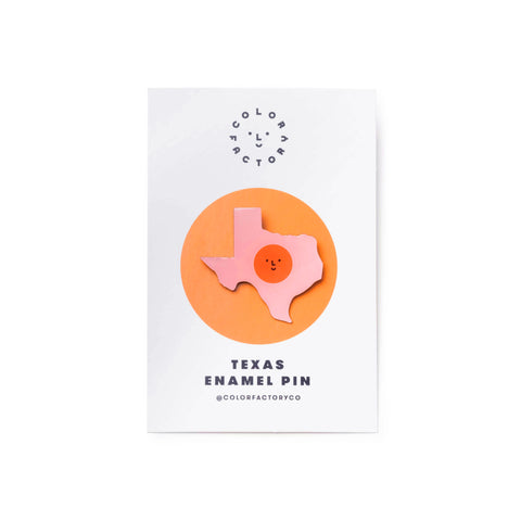Color Factory Houston Texas Enamel Pin