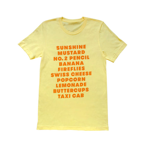 Favorite (Yellow) Things Tee