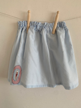 Load image into Gallery viewer, Slow Stitch - Swimmer Scene - Organic Cotton Skirt