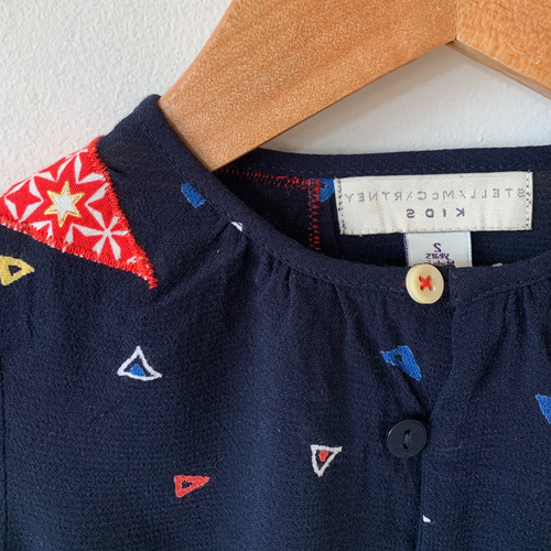 Slow Stitch - Upcycled McCartney Geo Top