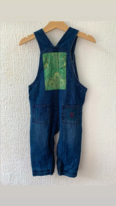 Slow Stitch - 'Go Green' dungarees