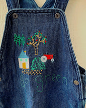 Load image into Gallery viewer, Slow Stitch - 'Go Green' dungarees