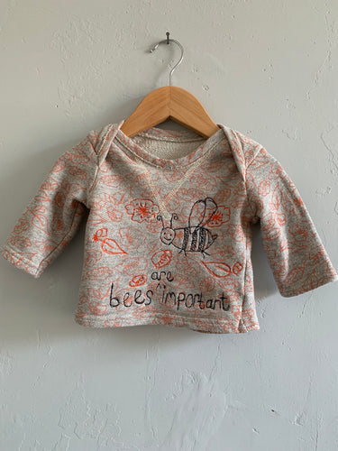 Slow Stitch - 'Bees are Important' sweatshirt