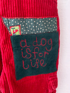 Slow Stitch - 'A Dog is for Life' romper