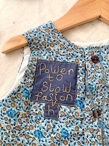Slow Stitch - 'Power to Slow Fashion' shirt dress